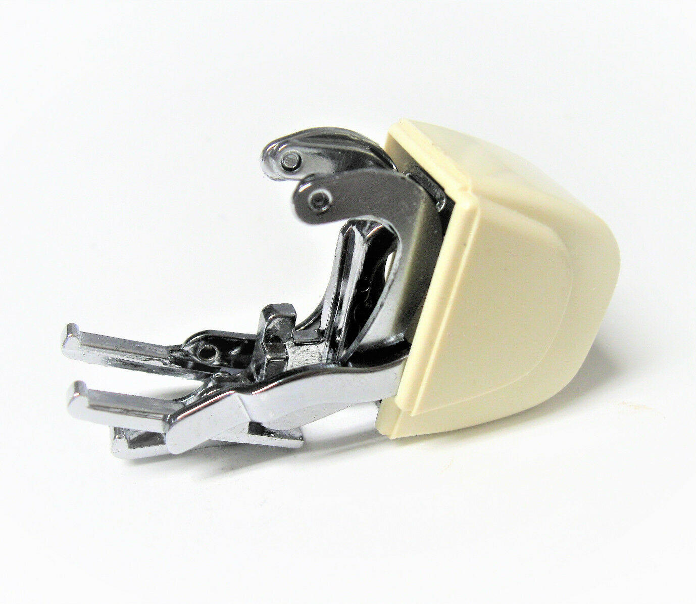 White//tan Singer Featherweight 221 Keychain